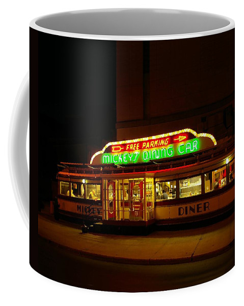 Diner Coffee Mug featuring the photograph Mickey's Diner by Tom Reynen