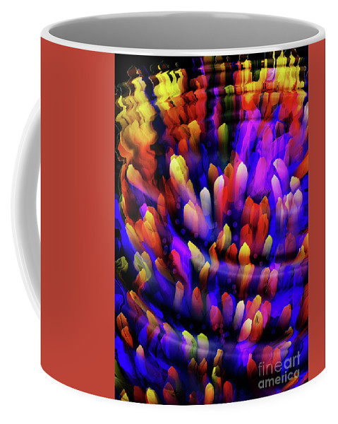 Reef Coffee Mug featuring the digital art Midnight At The Coral Reef by Mimulux patricia No