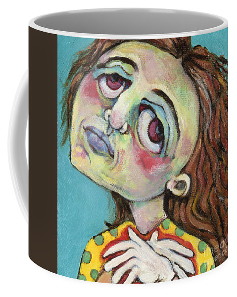 Painting Coffee Mug featuring the painting MiMi HeartAche by Michelle Spiziri
