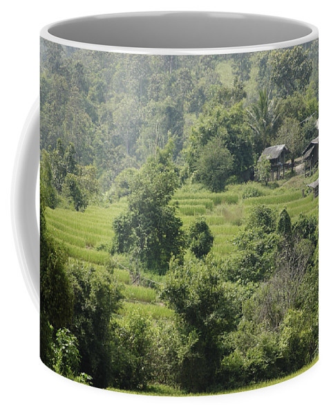 3scape Coffee Mug featuring the photograph Misty Mountain Village by Adam Romanowicz