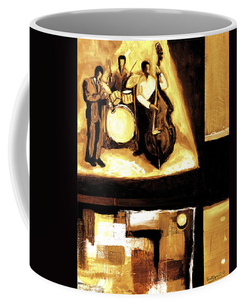 Everett Spruill Coffee Mug featuring the painting Modern Jazz Number Two by Everett Spruill