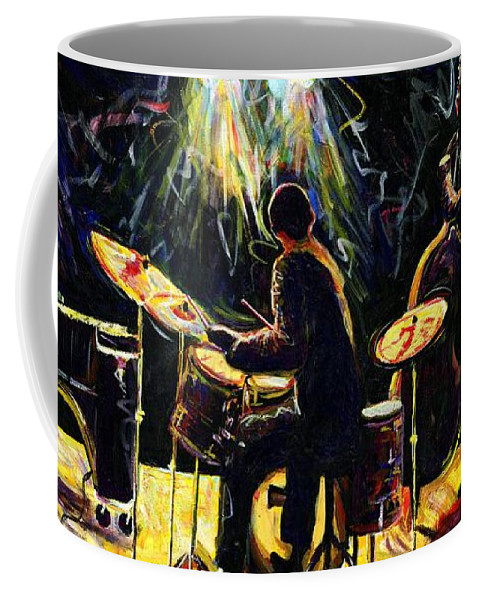 Everett Spruill Coffee Mug featuring the painting Modern Jazz Quartet take2 by Everett Spruill