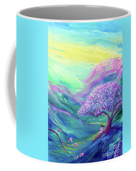 Meditation Coffee Mug featuring the painting Moment of Serenity by Jane Small