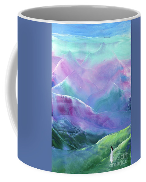 Abstract Coffee Mug featuring the painting Morning Serenity by Jane Small