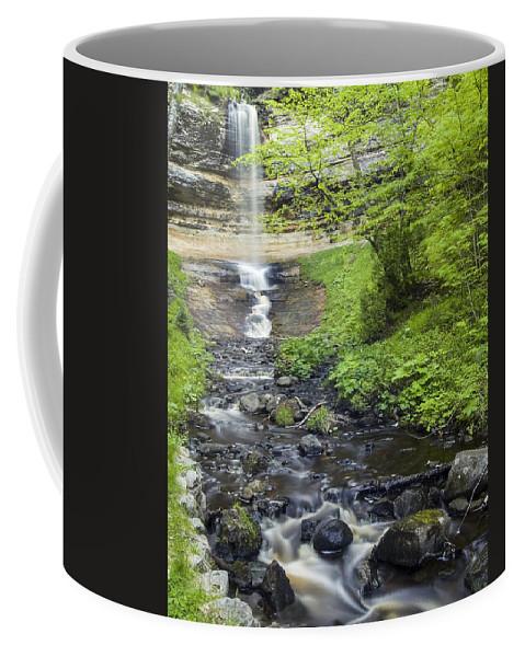 3scape Coffee Mug featuring the photograph Munising Falls by Adam Romanowicz