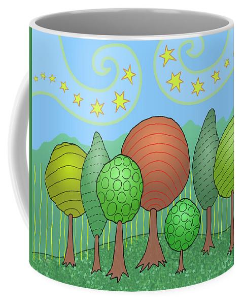 Family Coffee Mug featuring the digital art My Family by Susan Bird Artwork