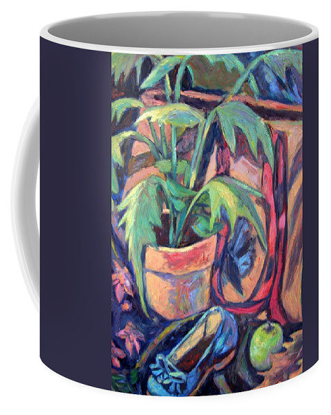 Plant Coffee Mug featuring the painting My Old Shoe by Kendall Kessler