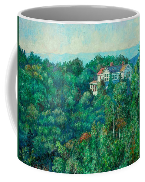 Landscape Coffee Mug featuring the painting Near Memorial Bridge by Kendall Kessler