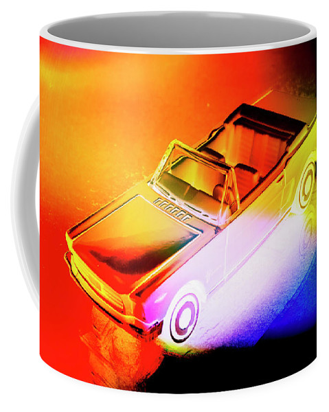 Neon Coffee Mug featuring the photograph Neon Drives by Jorgo Photography - Wall Art Gallery