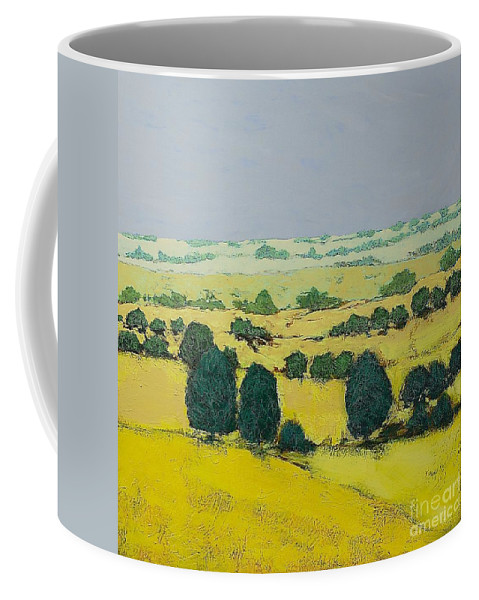 Landscape Coffee Mug featuring the painting Next Hill by Allan P Friedlander