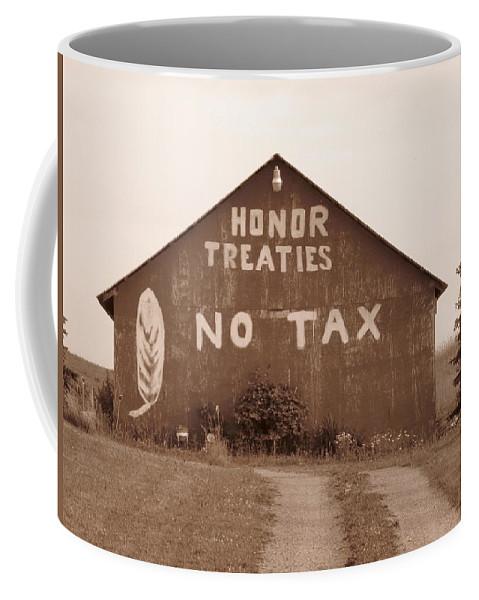 Barn Coffee Mug featuring the photograph No Honor by Rhonda Barrett