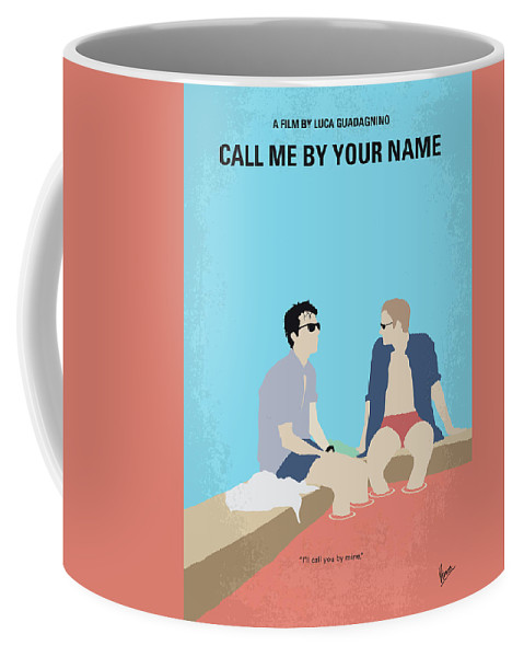 Call Coffee Mug featuring the digital art No1124 My Call Me By Your Name Minimal Movie Poster by Chungkong Art