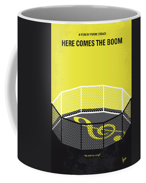 Here Coffee Mug featuring the digital art No1142 My Here Comes The Boom Minimal Movie Poster by Chungkong Art