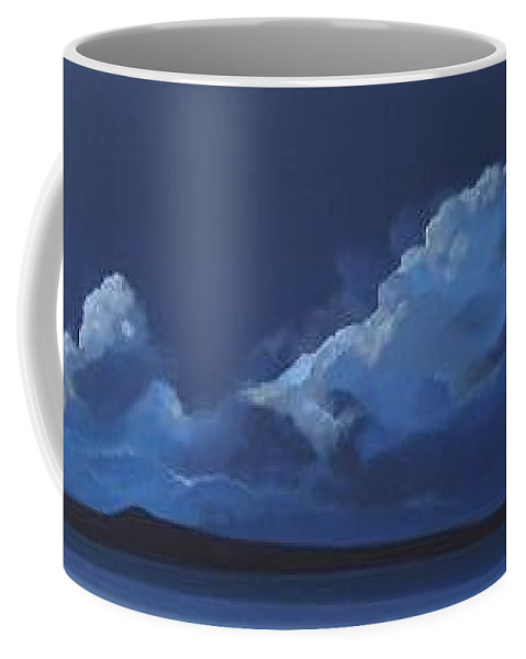 Landscape Coffee Mug featuring the painting Nocturne by Hunter Jay