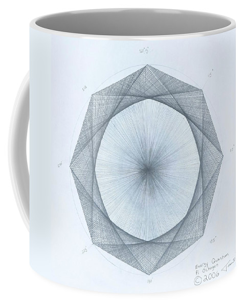 Octagon Coffee Mug featuring the drawing Octagon limits by Jason Padgett