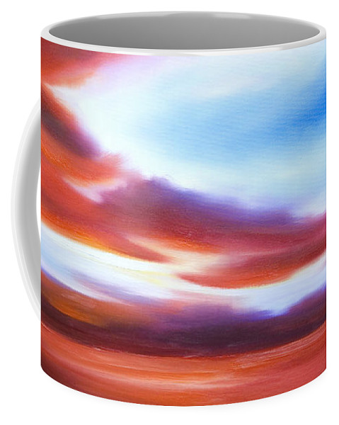 Skyscape Coffee Mug featuring the painting October Sky IV by James Christopher Hill