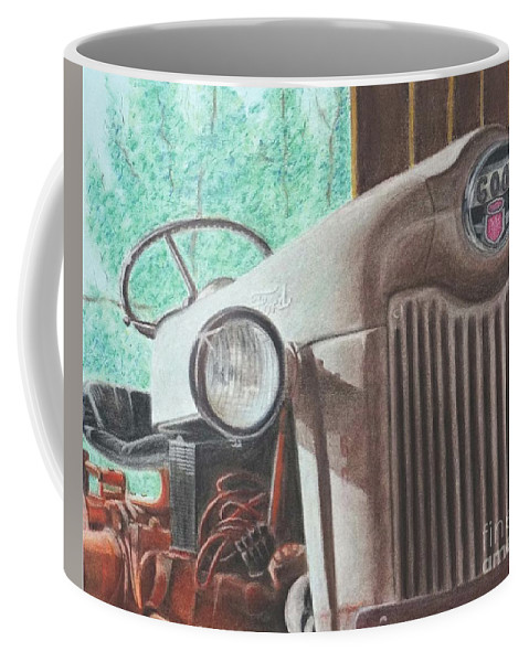 Wall Art Coffee Mug featuring the pastel Old Mick by Chris Naggy