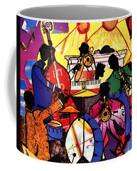 Everett Spruill Coffee Mug featuring the painting Old School Jazz by Everett Spruill