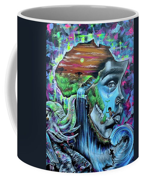 Bhm Coffee Mug featuring the painting Our History- BHM by Artist RiA