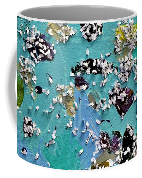 Blue Coffee Mug featuring the painting Party Time by Pam Roth O'Mara