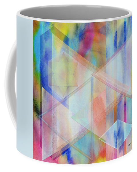 Pastoral Moment Coffee Mug featuring the digital art Pastoral Moment - Square Version by Studio B Prints