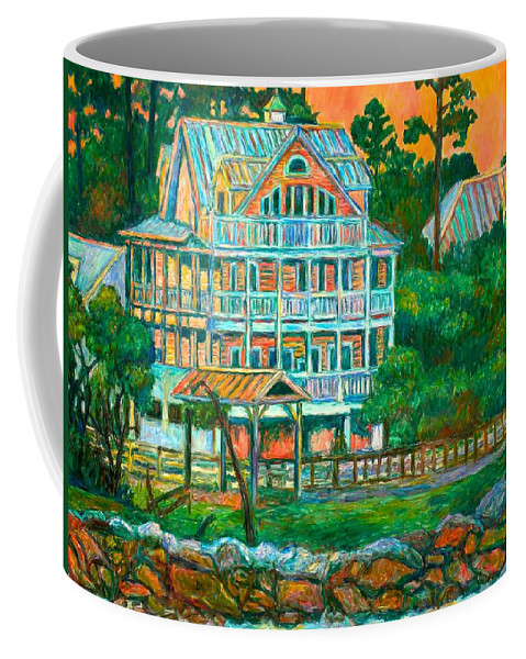 Landscape Coffee Mug featuring the painting Pawleys Island Evening by Kendall Kessler