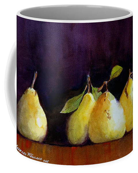 Still Life Coffee Mug featuring the painting Pears by Charles Rowland