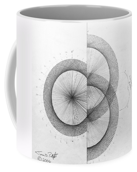 Photon Coffee Mug featuring the drawing Photon Double Slit high res. by Jason Padgett