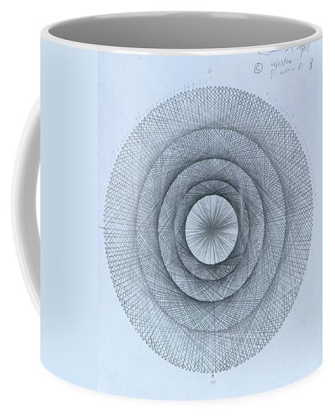 Pi Coffee Mug featuring the drawing Pi within Pi by Jason Padgett