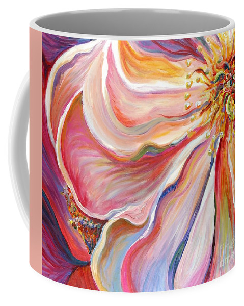 Pink Poppy Coffee Mug featuring the painting Pink Poppy by Nadine Rippelmeyer