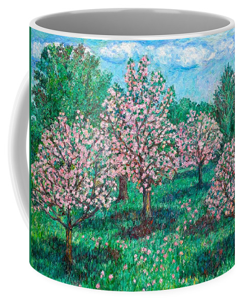 Landscape Coffee Mug featuring the painting Pink Wave by Kendall Kessler