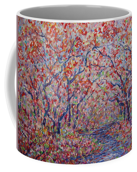 Landscape Coffee Mug featuring the painting Poetic Forest. by Leonard Holland