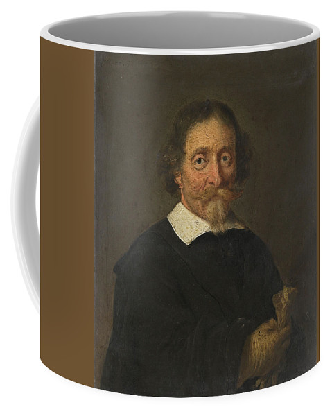Herman Doncker Coffee Mug featuring the painting Portrait of a Man by Herman Doncker