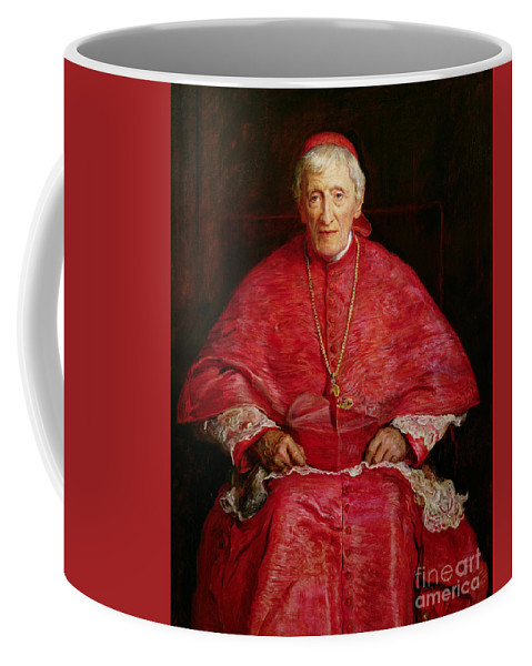 Portrait Of Cardinal Newman Coffee Mug featuring the painting Portrait of Cardinal Newman by John Everett Millais