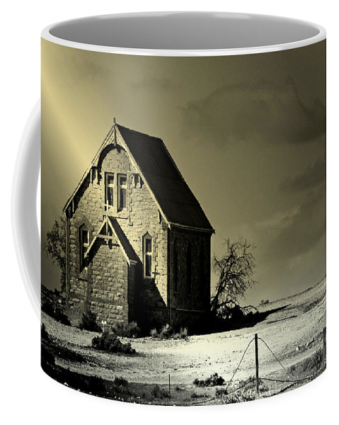 Church Coffee Mug featuring the photograph Praying for Rain by Holly Kempe
