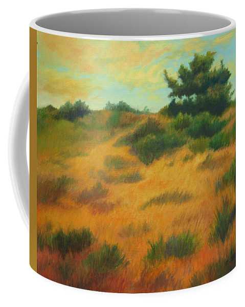 Cape Cod Scene Coffee Mug featuring the painting Province Lands Cape Cod by Phyllis Tarlow