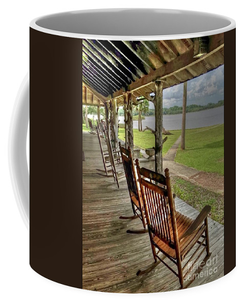 Chair Coffee Mug featuring the photograph Pull Up a Chair by Debbi Granruth