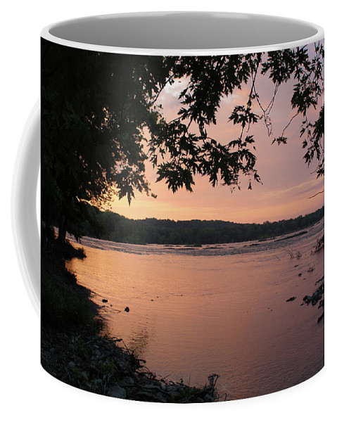 Sunrise Coffee Mug featuring the photograph Purple Potomac Sonrise by Holly Morris