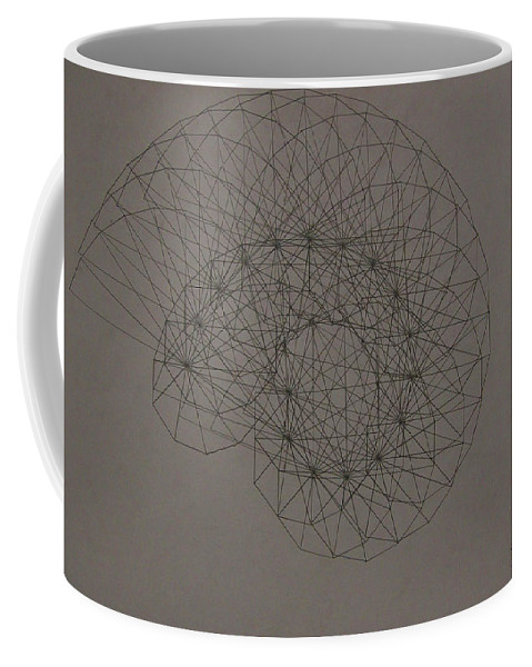 Fractal Coffee Mug featuring the drawing Quantum Sea Shell by Jason Padgett