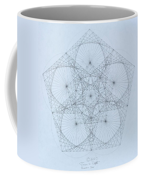 Star Coffee Mug featuring the drawing Quantum Star high res. by Jason Padgett