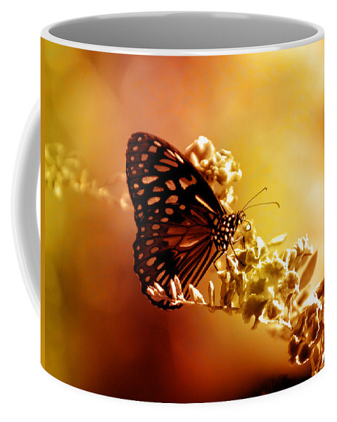 Butterfly Coffee Mug featuring the photograph Radiance by Holly Kempe