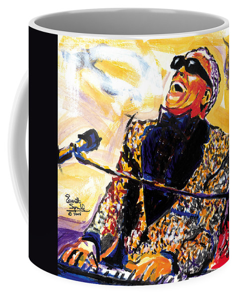 Everett Spruill Coffee Mug featuring the painting Ray Charles by Everett Spruill
