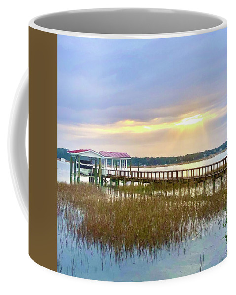 Landscape Coffee Mug featuring the photograph Ray of light by Michael Stothard