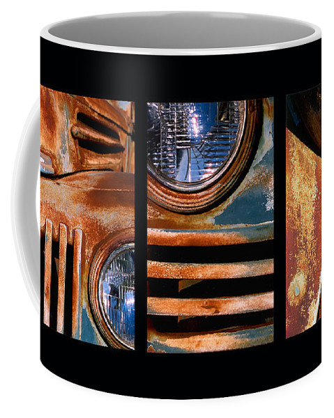 Abstract Coffee Mug featuring the photograph Red Head On by Steve Karol