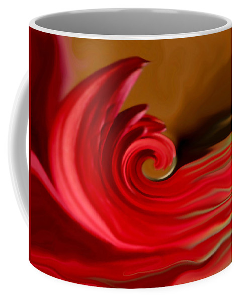 Abstract Art Coffee Mug featuring the photograph Red Sea by Linda Sannuti