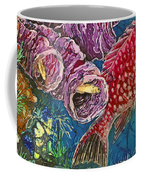 Ocean Coffee Mug featuring the painting Red Snapper by Sue Duda