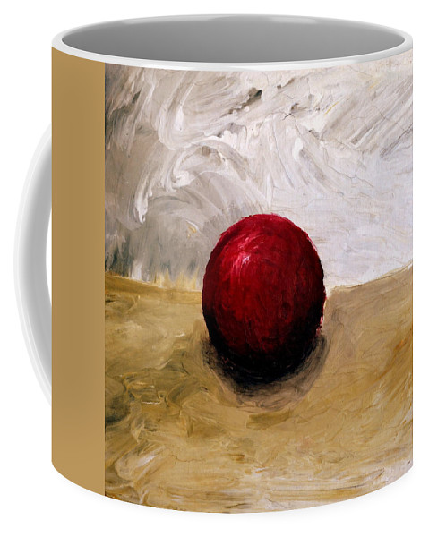 Red Coffee Mug featuring the painting Red Sphere by Michelle Calkins