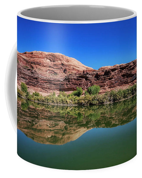 Colorado River Coffee Mug featuring the photograph Reflections on the River by Jim Thompson