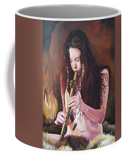 Southwest Art Coffee Mug featuring the painting Release by J W Baker
