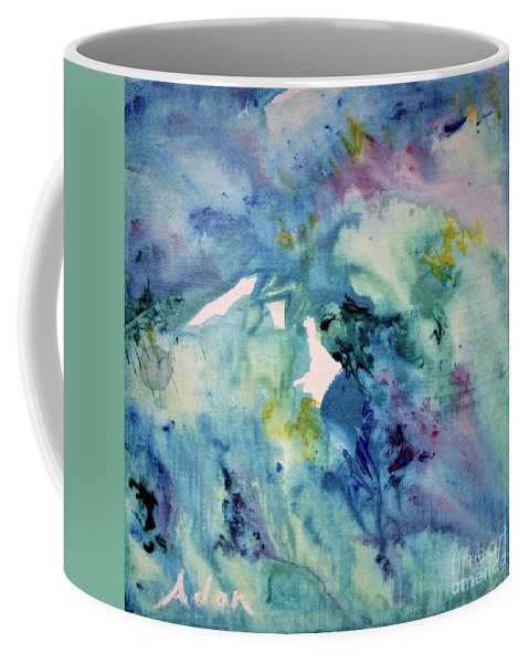 Paintings By Felipe Adan Lerma Coffee Mug featuring the painting Ridges Of Spring Light 6x6 Acrylic Watercolor #2 by Felipe Adan Lerma